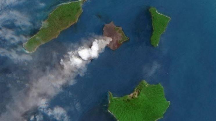 Il vulcano Anak Krakatoa ha perso due terzi della sua altezza