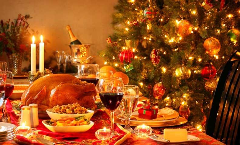 menu per il pranzo di Natale