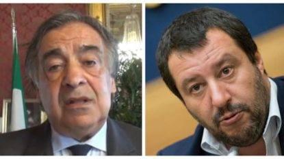 """Decreto sicurezza Salvini, Orlando: """"Io lo disapplico"""". Salvini: """"Pensi ai problemi dei suoi cittadini"""""""