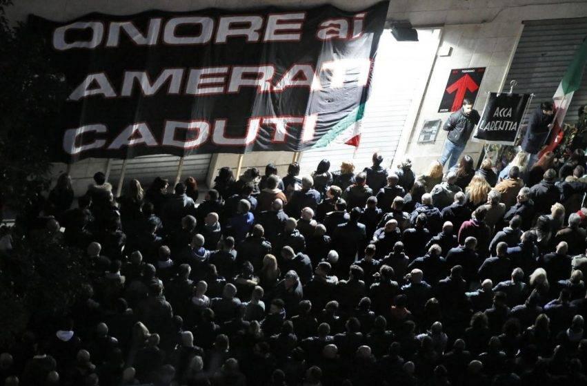 Manifestazione di Forza Nuova e Avanguardia Nazionale