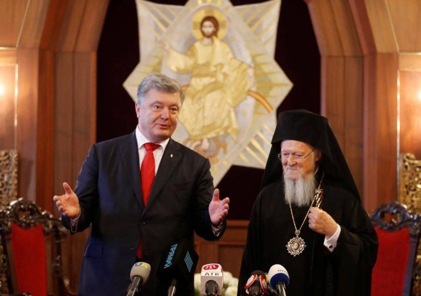 Il Patriarca Bartolomeo e il Presidente Poroshenko
