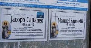 Brescia, manifesti funebri pro migranti- l'opinione pubblica si spacca in due -min