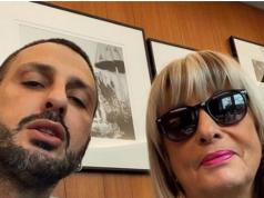 Fabrizio Corona e la madre Gabriella