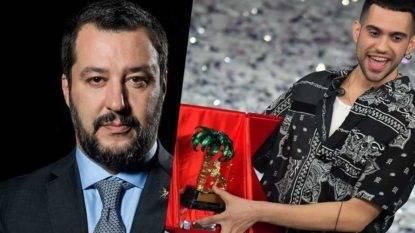 Matteo Salvini e Mahmood
