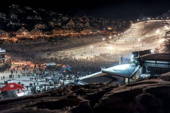 Prato Nevoso, i campi da sci di notte