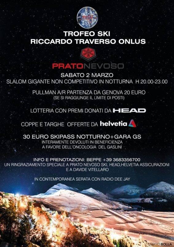 A Prato Nevoso slalom di beneficenza per i piccoli pazienti dell'Ospedale Gaslini