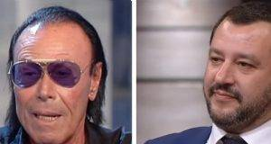 Antonello Venditti e Matteo Salvini