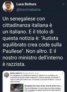 """Bottura ironizza e minimizza la tentata strage a Linate: """"Era solo un autista che crea code, Salvini razzista"""""""