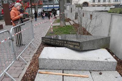 Vandalizzata la stele dell'antica sinagoga a Strasburgo