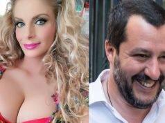 Francesca Cipriani e Matteo Salvini