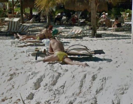 Un glitch di Google Maps fa sembrare quest'uomo privo di una gamba