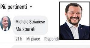 """L'account del presidente della provincia su Facebook: """"Salvini sparati"""". E scoppia il caso"""