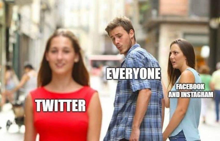 Uno dei meme sul blackout dei social