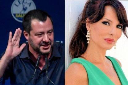 Matteo Salvini e Miriana Trevisan