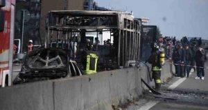 l'autista che ha dato a fuoco all'autobus a Linate