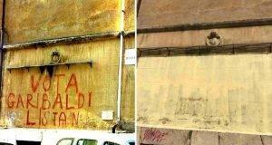scambiato per graffito, viene cancellata una scritta storica
