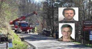 camion perde aderenza e finisce in una scarpata, due vittime