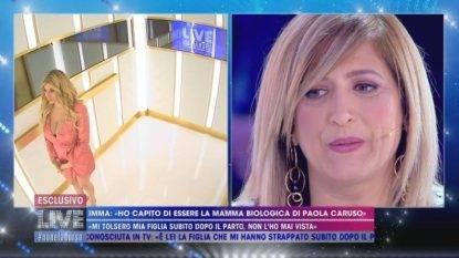 Paola Caruso e la presunta mamma biologica Imma