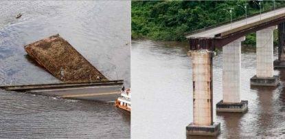 Ponte tagliato a metà dal traghetto, automobili precipitano in acqua: ci sono dispersi