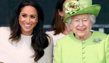 Regina Elisabetta e Meghan Markle