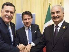 al-sarraj conte italia libia