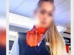 donna controllore girava clip hard con i passeggeri