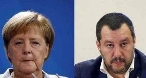 Angela Merkel e Matteo Salvini