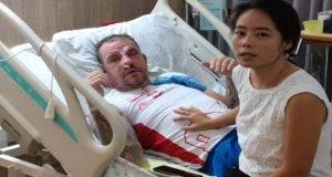 turista picchiato moglie