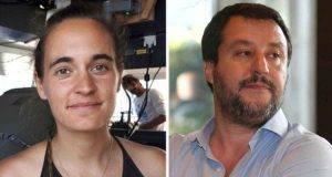 Carola Rackete chiede la chiusura delle pagine social di Salvini