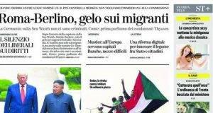 Dalla prima pagina de La Stampa