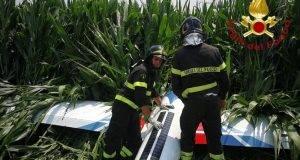 aliante atterraggio di emergenza
