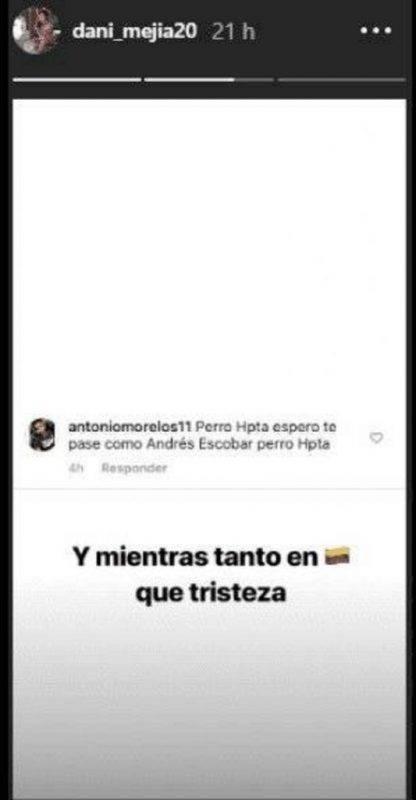 minaccia instagram a Tesillo