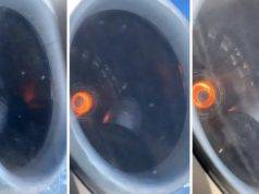 motore aereo filmato