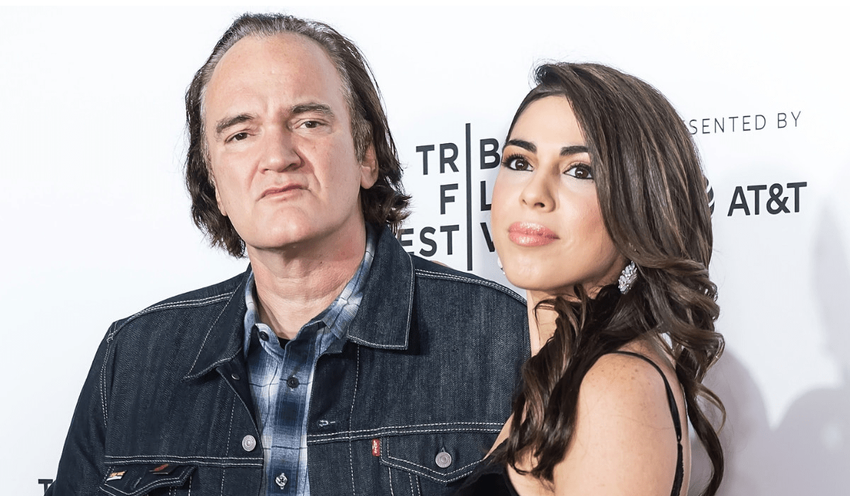 Quentin Tarantino e Daniela genitori