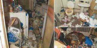 Marito lascia morire la moglie in una casa discarica