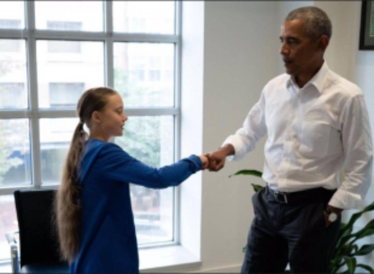 Obama appoggia la lotta di Greta Thunberg