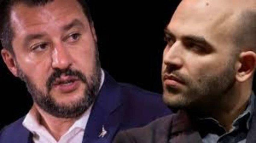 Salvini cita Saviano e lo accusa