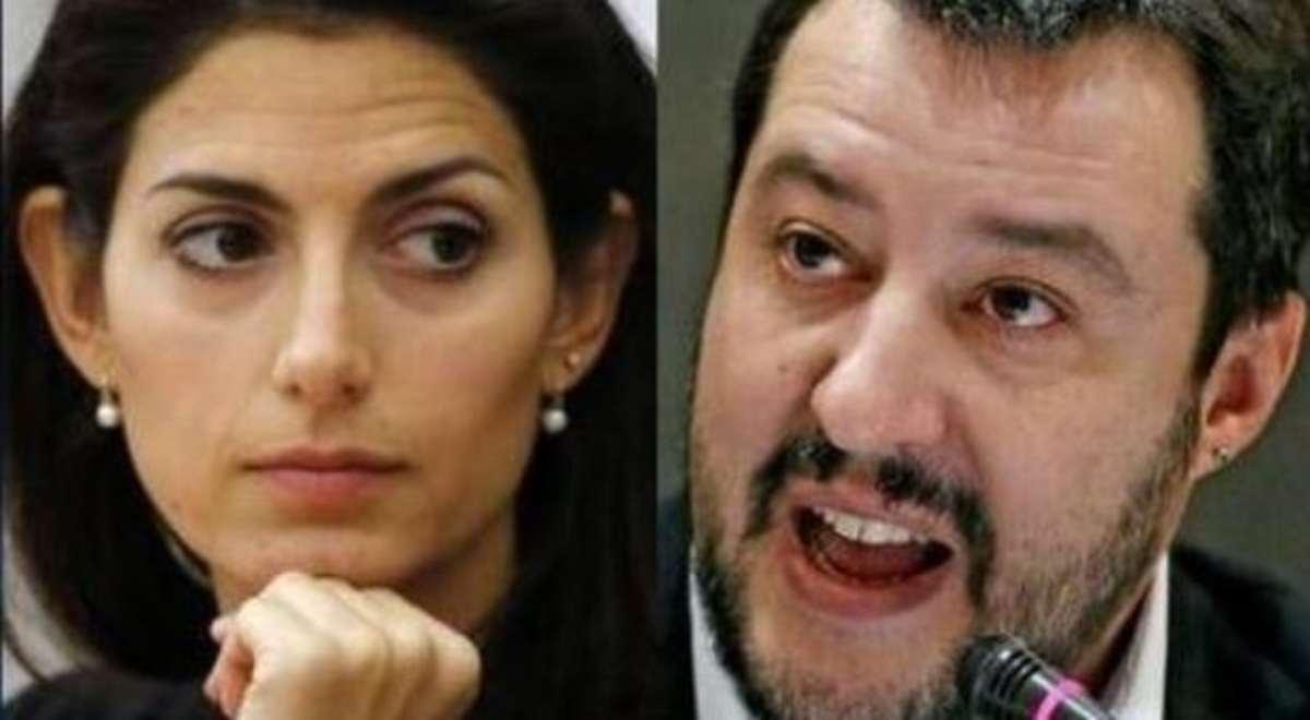 Durissime accuse di Salvini alla Raggi