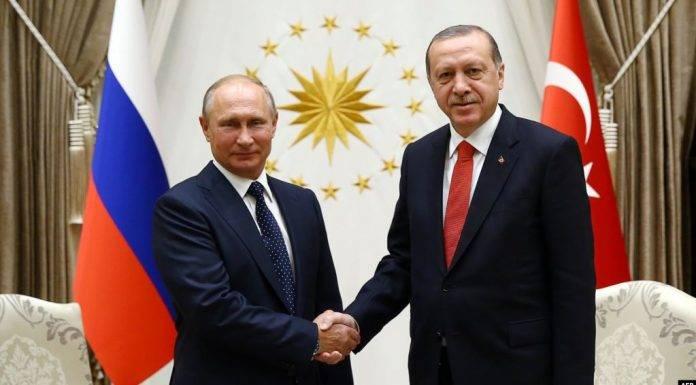 Stretta di mano Putin - Erdogan