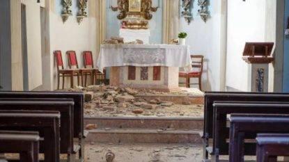 crollo volta chiesa