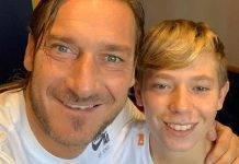 Francesco Totti dedica al figlio