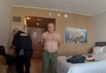 Pilota nudo arrestato hotel