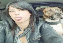donna cani morta