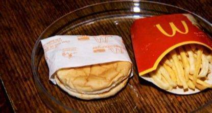 mcdonald's hamburger patatine