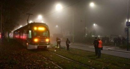 tram milano investito