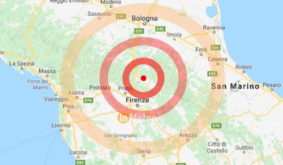 Sciame sismico al Mugello: scosse di terremoto fino a 4.5 di