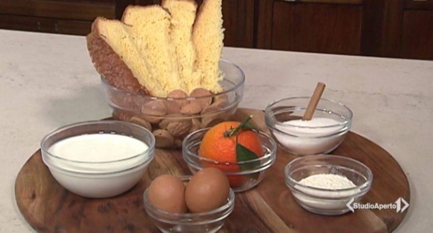 pandoro con crema all'arancia