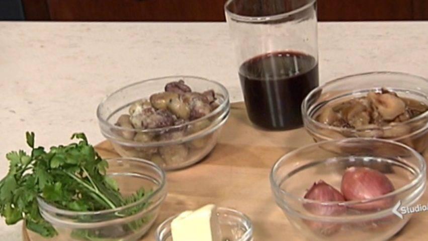 zuppetta di castagne con porcini e vino rosso
