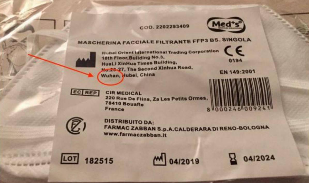 Coronavirus, la coincidenza assurda: mascherine vendute in I
