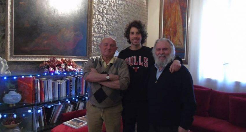 Giambattista Borgonzoni con Mattia Santori